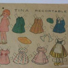 Coleccionismo Recortables: RECORTABLE PAPEL MUÑECA DORSO REVISTA MARAVILLAS AÑOS 40. Lote 56861270