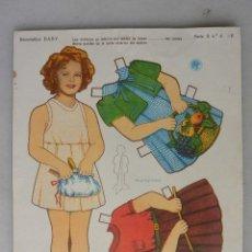 Coleccionismo Recortables: RECORTABLE MUÑECAS SHIRLEY TEMPLE RECORTABLES BABY. Lote 56891044