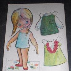Coleccionismo Recortables: MUÑECA RECORTABLE BABY MODAS REGALO CHICLE FIESTA 1973. Lote 57495936