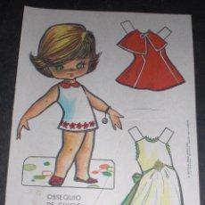 Coleccionismo Recortables: MUÑECA RECORTABLE BABY MODAS REGALO CHICLE FIESTA 1973. Lote 57495952
