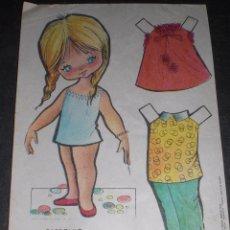 Coleccionismo Recortables: MUÑECA RECORTABLE BABY MODAS REGALO CHICLE FIESTA 1973. Lote 57495995