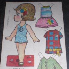 Coleccionismo Recortables: MUÑECA RECORTABLE BABY MODAS REGALO CHICLE FIESTA 1973. Lote 57496018