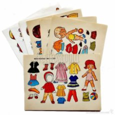 Coleccionismo Recortables: LOTE DE 10 LAMINAS RECORTABLES MUÑECAS BOGA MENCHU SERIE COMPLETA Nº 351 - 360 AÑO 1973. Lote 83949922