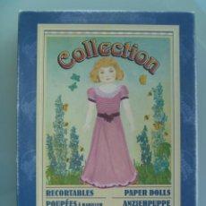 Coleccionismo Recortables: CAJA DE RECORTABLE ACTUAL DE COLLECCION , REPRODUCCION DE JUEGO DE LOS AÑOS 20. Lote 57738355