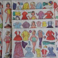 Coleccionismo Recortables: LOTE 10 RECORTABLES DE MUÑECAS EVA SERIE 911-920.AÑO 1964.. Lote 143622240