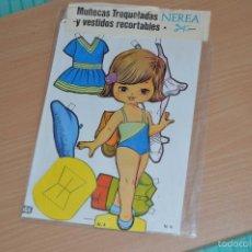 Coleccionismo Recortables: MUÑECAS TROQUELADAS Y VESTIDOS RECORTABLES - N 4 - NEREA - EDICIONES BOGA SA - NUEVO SIN USO. Lote 66091221