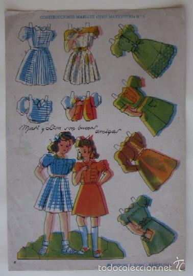 MARI-LUZ SERIE MARIQUITAS (Coleccionismo - Recortables - Muñecas)