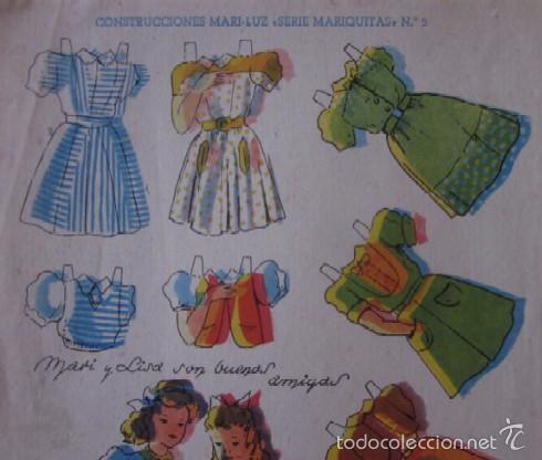 Coleccionismo Recortables: MARI-LUZ SERIE MARIQUITAS - Foto 2 - 58137296