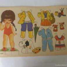 Colecionismo Recortáveis: Mª JOSE SERIE POPOTITOS Nº 7 - AÑO 1978 EDT. ZULIA. Lote 58638421