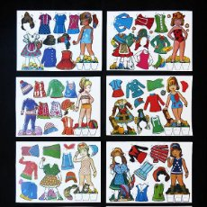Coleccionismo Recortables: LOTE COMPLETO 8 LAMINAS MUÑECAS RECORTABLES DIFICILES DE CONSEGUIR.. Lote 58889651