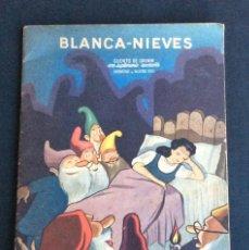 Coleccionismo Recortables: CUENTO BLANCA NIEVES CON PERSONAJES RECORTABLES (RECORTABLE).ED. ORVY 1940. ILUSTRADO VALVERDE CASAS. Lote 59539707