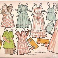 Coleccionismo Recortables: LAMINA RECORTABLES MUÑECAS MARY CARMEN SERIE 100 Nº 107 CONSTRUCCIONES EL SOLDADO AÑOS 50. Lote 61731620
