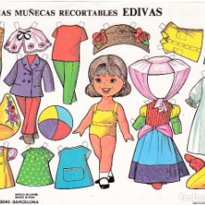 Coleccionismo Recortables: HOJA RECORTABLE MUÑECA Nº 2 EDIVAS AÑO1985 MEDIDAS 21 X 15 CM.. Lote 108855287