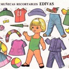 Coleccionismo Recortables: HOJA RECORTABLE MUÑECA Nº 3 EDIVAS AÑO1985 MEDIDAS 21 X 15 CM.. Lote 126375679