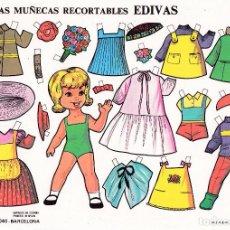 Coleccionismo Recortables: HOJA RECORTABLE MUÑECA Nº 4 EDIVAS AÑO1985 MEDIDAS 21 X 15 CM.. Lote 126375730