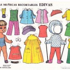 Coleccionismo Recortables: HOJA RECORTABLE MUÑECA Nº 6 EDIVAS AÑO1985 MEDIDAS 21 X 15 CM.. Lote 126375820