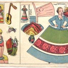 Coleccionismo Recortables: LAMINA RECORTABLES MUÑECAS TRAJE TIPICO REGIONAL DE HUESCA. ARAGON. ANSOTANO. Lote 62554508