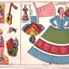 Coleccionismo Recortables: LAMINA RECORTABLES MUÑECAS TRAJE TIPICO REGIONAL DE HUESCA. ARAGON. ANSOTANO. Lote 62554580