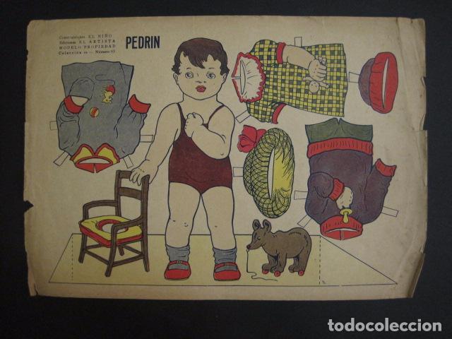 PEDRIN - RECORTABLE ANTIGUO - CONSTRUCCIONES EL NIÑO - VER FOTOS Y MEDIDAS -(V-6712) (Coleccionismo - Recortables - Muñecas)