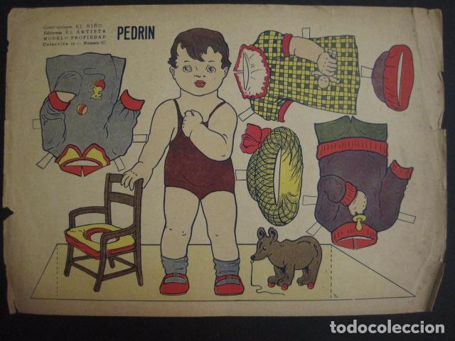 Coleccionismo Recortables: PEDRIN - RECORTABLE ANTIGUO - CONSTRUCCIONES EL NIÑO - VER FOTOS Y MEDIDAS -(V-6712) - Foto 3 - 63004732