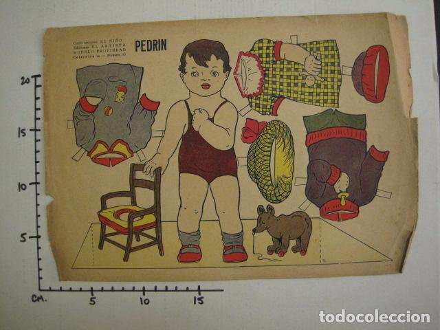 Coleccionismo Recortables: PEDRIN - RECORTABLE ANTIGUO - CONSTRUCCIONES EL NIÑO - VER FOTOS Y MEDIDAS -(V-6712) - Foto 7 - 63004732