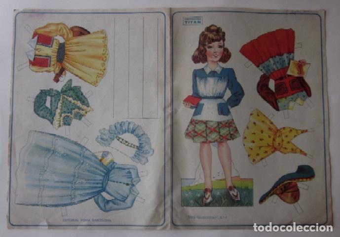 RECORTABLE SERIE MARIQUITAS - EDITORIAL ROMA AÑOS 50 (Coleccionismo - Recortables - Muñecas)