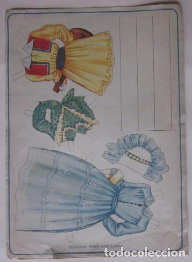 Coleccionismo Recortables: RECORTABLE SERIE MARIQUITAS - EDITORIAL ROMA AÑOS 50 - Foto 3 - 64409811