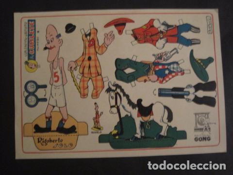 RECORTABLE CUBILETE - MUÑECO -RIGOBERTO SOLO - EDITORIAL GONG-ORIGINAL-NO COPIA- VER FOTOS -(V-7372) (Coleccionismo - Recortables - Muñecas)
