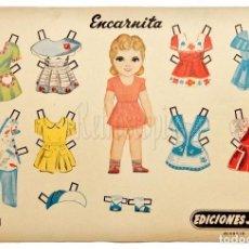 Coleccionismo Recortables: LAMINA RECORTABLE RECORTABLES DE MUÑECAS Nº 2 ENCARNITA EDICIONES JARA MADRID AÑOS 40. Lote 69518493