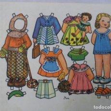 Coleccionismo Recortables: RECORTABLE MUÑECAS. FLORES. 16 X 22. Lote 69994981
