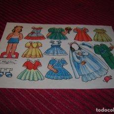 Coleccionismo Recortables: PRECIOSA MUÑECA RECORTABLE,AÑOS 40. Lote 70534357
