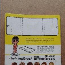 Coleccionismo Recortables: EDITORIAL BRUGUERA ,MIS MUÑECAS, MINI RECORTABLES SERIE 5ª HAY 40 VESTIDITOS ETC...MIS MUÑECAS. Lote 71077825