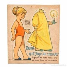 Coleccionismo Recortables: CUENTO RECORTABLE TERE Y EL TRAJE DE TOREAR Nº 1 COLECCION TERE LA NIÑA MODERNA EDITORIAL FHER 1958. Lote 72802351