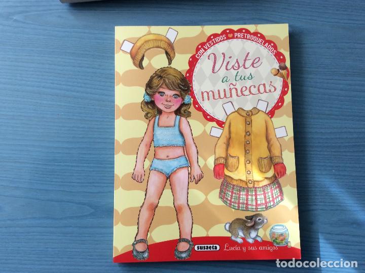 LIBRO RECORTABLES DE MUÑECAS EDITORIAL SUSAETA VISTE A TUS MUÑECAS LUCIA Y SUS AMIGOS (Coleccionismo - Recortables - Muñecas)