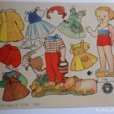 Coleccionismo Recortables: RECORTABLE MUÑECA BEIBY, EDIT. BRUGUERA ILUSTRADO POR ENRIQUETA BOMBON.. Lote 76284371