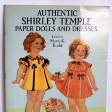 Coleccionismo Recortables: RECORTABLE AUTHENTIC SHIRLEY TEMPLE PAPER DOLLS AND DRESSES MARTA K KREBS AÑO 1991 COMPLETO. Lote 78210633