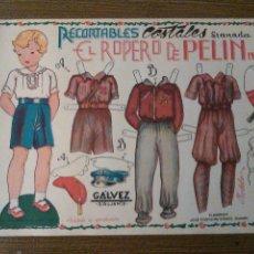 Coleccionismo Recortables: EL ROPERO DE PELIN, Nº 3. UNIFORMES,PELAYO, AVIADOR, Y REGULAR, MIDE,32 X 23 C.M. VER FOTO. Lote 79752661
