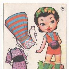 Coleccionismo Recortables: (ALB-TC-7) RECORTABLE OBSEQUIO DE CHICLE MUÑEQUITA DE FIESTA. Lote 80357665