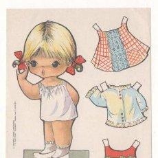 Colecionismo Recortáveis: RECORTABLE OBSEQUIO DE CHICLE BABY MODAS DE FIESTA. Lote 80394429