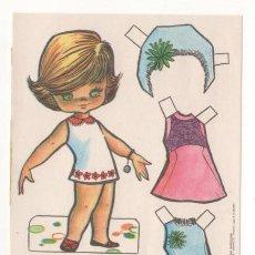 Coleccionismo Recortables: (ALB-TC-7) RECORTABLE OBSEQUIO DE CHICLE BABY MODAS DE FIESTA. Lote 80394509
