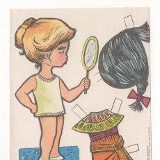 Coleccionismo Recortables: (ALB-TC-7) RECORTABLE OBSEQUIO DE CHICLE BABY MODAS DE FIESTA. Lote 80394813