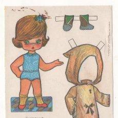 Coleccionismo Recortables: (ALB-TC-7) RECORTABLE OBSEQUIO DE CHICLE BABY MODAS DE FIESTA. Lote 80414493