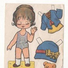 Coleccionismo Recortables: (ALB-TC-7) RECORTABLE OBSEQUIO DE CHICLE BABY MODAS DE FIESTA. Lote 80414509