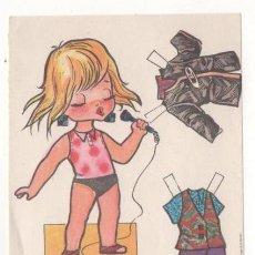 Coleccionismo Recortables: (ALB-TC-7) RECORTABLE OBSEQUIO DE CHICLE BABY MODAS DE FIESTA. Lote 80414601