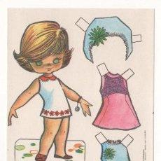 Coleccionismo Recortables: (ALB-TC-7) RECORTABLE OBSEQUIO DE CHICLE BABY MODAS DE FIESTA. Lote 80430369