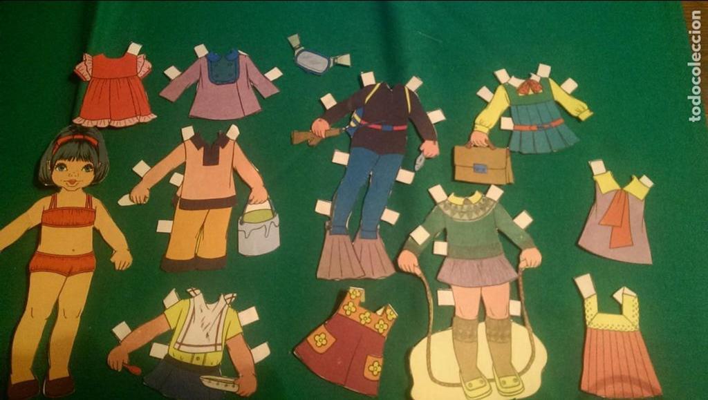 ANTIGUA MUÑECA RECORTABLE «ROSALÍA» (Coleccionismo - Recortables - Muñecas)