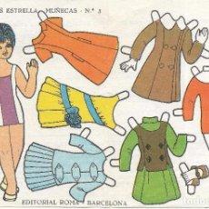 Coleccionismo Recortables: ** PP137 - RECORTABLES ESTRELLA - MUÑECAS Nº 3 - EDITORIAL ROMA - CON PUBLICIDAD POR DETRAS . Lote 81300816