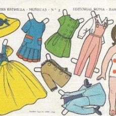 Coleccionismo Recortables: ** PP138 - RECORTABLES ESTRELLA - MUÑECAS Nº 2 - EDITORIAL ROMA - CON PUBLICIDAD POR DETRAS . Lote 81302756