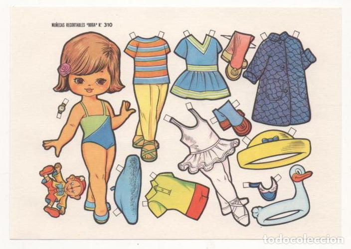 (ALB-TC-10) RECORTABLE LAMINA MUÑECAS RECORTABLES BOGA Nº 310 (Coleccionismo - Recortables - Muñecas)