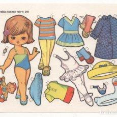 Coleccionismo Recortables: (ALB-TC-10) RECORTABLE LAMINA MUÑECAS RECORTABLES BOGA Nº 310. Lote 81939004